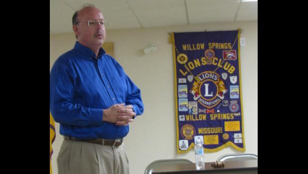 Superintendent Bill Hall speaks at the Lions Club meeting on June 11 (photo credit: Amanda Mendez)
