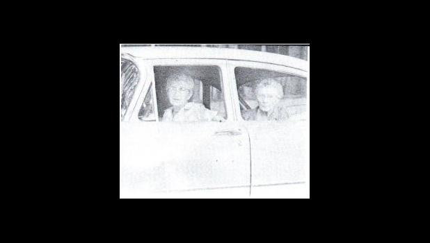 Miss Masnor in a car with her Aunt Kate in the 1962 Willamizzou