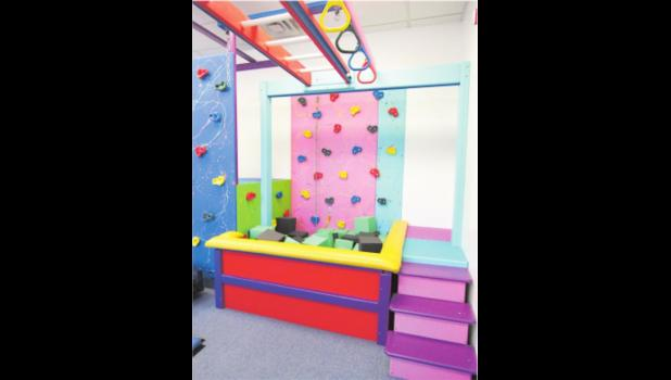 The sensory gym at Children's Behavior Services is not only a useful tool for ABA, but will soon be available to rent as an event space. (photo credit: Amanda Mendez)