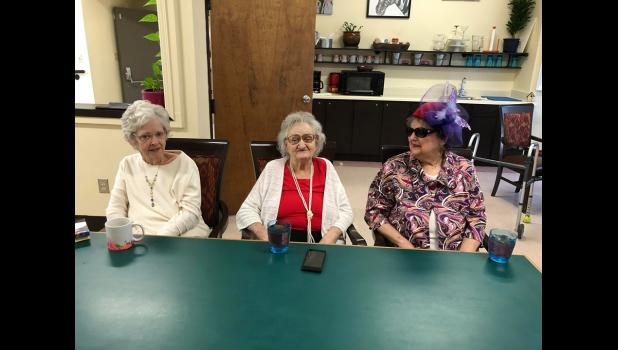 Kathie Lewis, Martha Spencer, and winner Jan Baker-Berry during the pageant. (submitted)