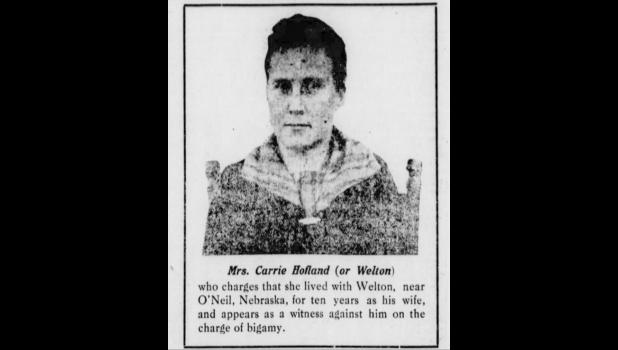 Carrie Hofland From the Current Wave Newspaper in Eminence May 1919