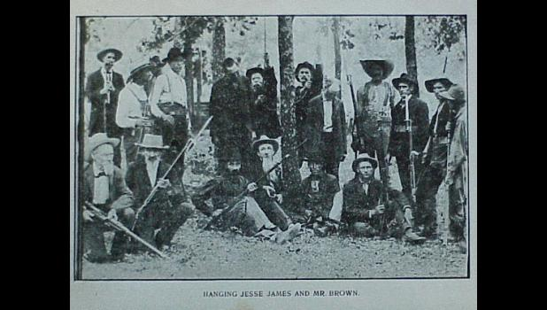 Staged Photo 1907 of Hanging of Jesse James